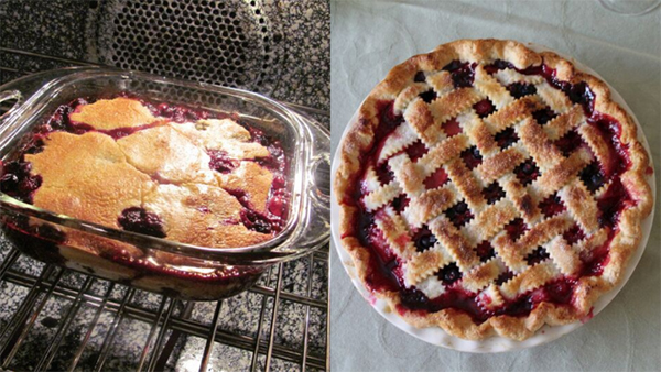 berry cobbler pie