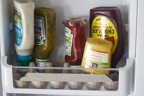 refrigerator door organization