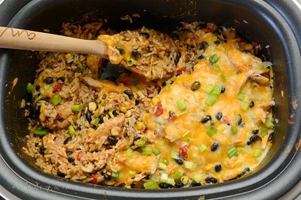 chicken and rice burrito bowls