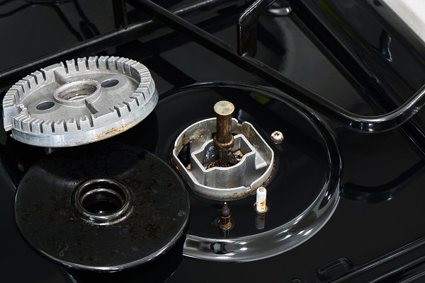 gas stove burner not working properly